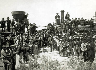 Golden Spike Ceremony, 1869 Poster by Science Source