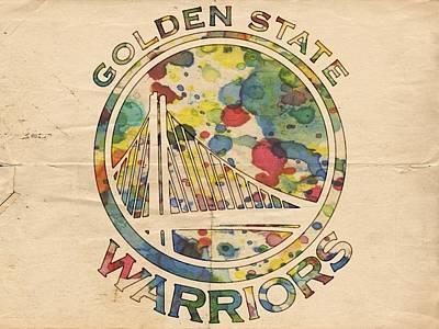 Golden State Warriors Logo Art Poster by Florian Rodarte