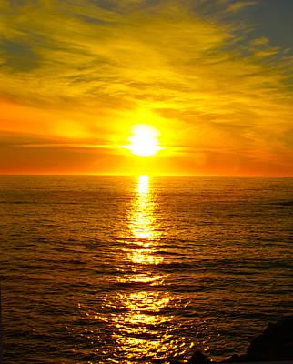 Golden Sunset Pismo Beach 2 Poster