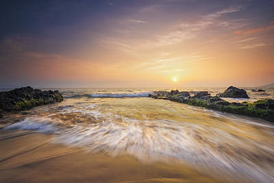 Golden Sunset Poster by Hawaii  Fine Art Photography
