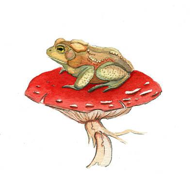Golden Toad Poster by Katherine Miller