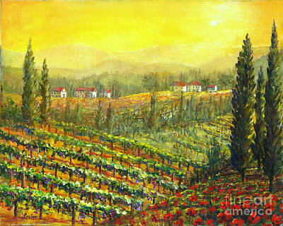 Golden Tuscany Poster by Lou Ann Bagnall