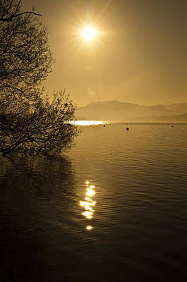 Poster featuring the photograph Golden Ullswater Evening by Meirion Matthias