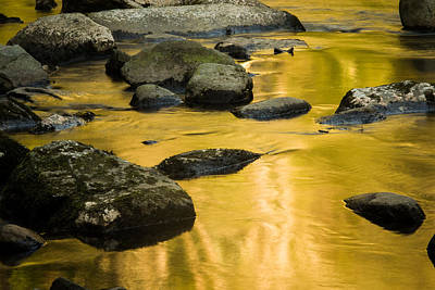 Poster featuring the photograph Golden Water by Jay Stockhaus