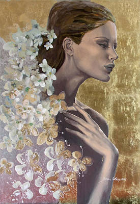 Golden Wind Poster by Dorina  Costras