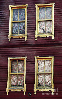 Golden Windows Poster by John Rizzuto