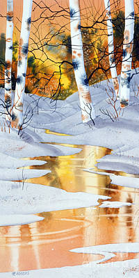 Poster featuring the painting Golden Winter by Teresa Ascone