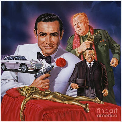 Goldfinger Poster by Dick Bobnick