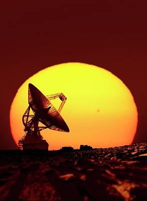 Goldstone Observatory At Night Poster by Detlev Van Ravenswaay