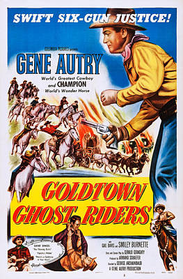 Goldtown Ghost Riders, Gene Autry Poster by Everett