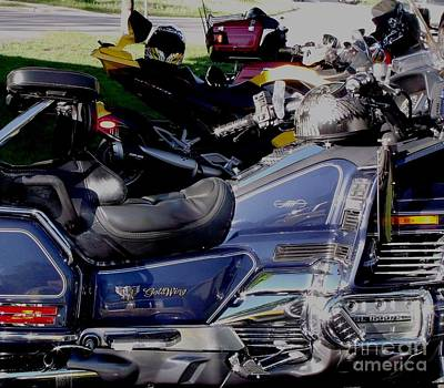 Goldwing Plus Spyder Plus Harley Equals Ride For Dad For Prostate Cancer Poster