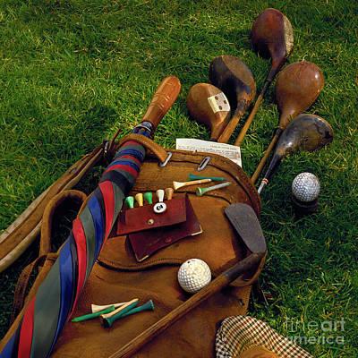 Golf Bag Poster by Simon Kayne