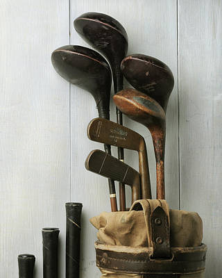 Golf Bag With Clubs Poster