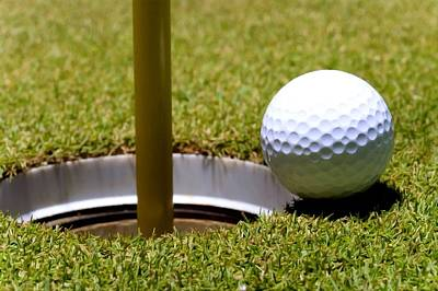 Golf Ball Next Hole Poster
