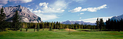 Golf Course Banff Alberta Canada Poster