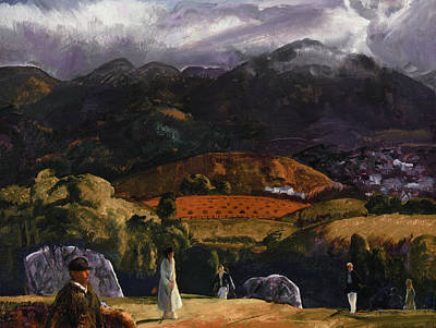 Golf Course Poster by George Wesley Bellows