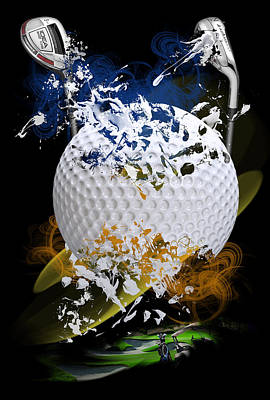 Golf Explosion Poster