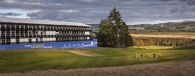 Golf Gleneagles 2014 Poster by Alex Saunders
