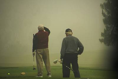 Golf In A Fog Poster