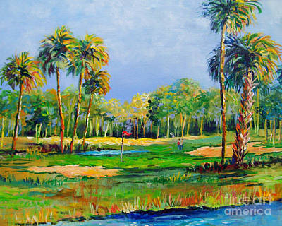 Golf In The Tropics Poster by Lou Ann Bagnall
