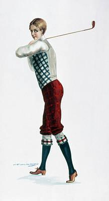 Golfer, C1920 Poster