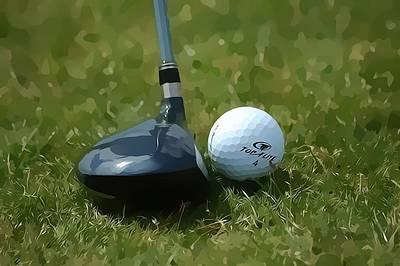 Golfing Poster