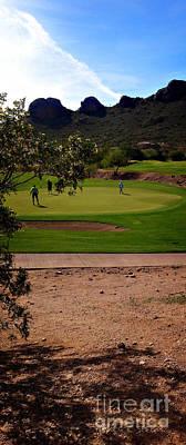 Golfing In The Desert Poster