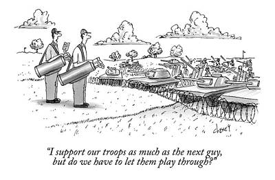 Golfing Through A Warzone Poster