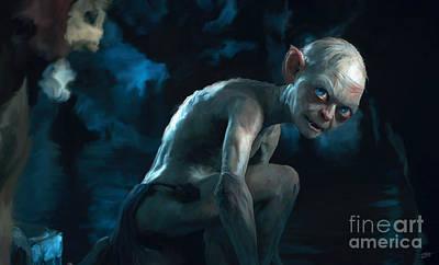 Gollum Poster by Paul Tagliamonte