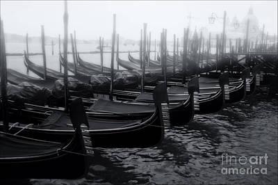 Gondolas At The Piazza San Marco Venice Poster