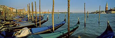 Gondolas In A Grand Canal, Venice Poster