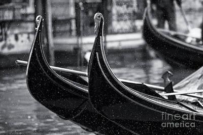 Gondolas In Venice Poster