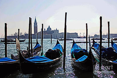 Gondolas Of Venice Poster