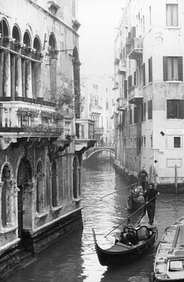 Gondoliers In Venice Poster by Dorothy Berry-Lound