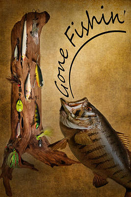 Gone Fishin Poster by Bill Wakeley