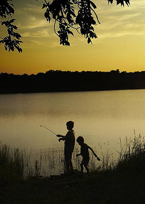 Gone Fishin' Poster by Mary Ely