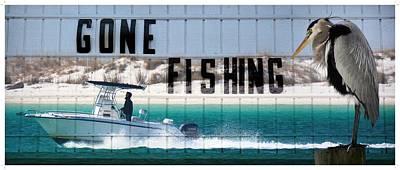 Gone Fishing Poster by Henry Kowalski