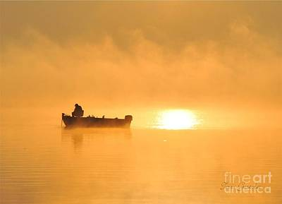 Poster featuring the photograph Gone Fishing by Terri Gostola