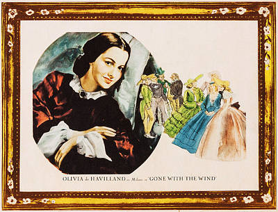 Gone With The Wind, Olivia De Havilland Poster by Everett
