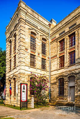Gonzales County Old Jail Museum - Gonzales Texas Poster by Silvio Ligutti