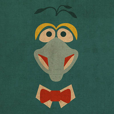 Gonzo Vintage Minimalistic Illustration On Worn Distressed Canvas Series No 010 Poster by Design Turnpike