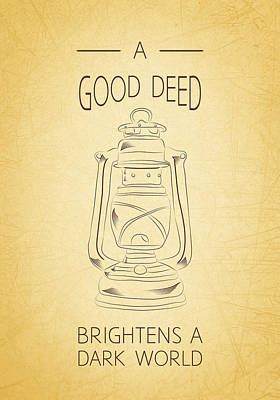 Good Deed Poster by Nancy Ingersoll