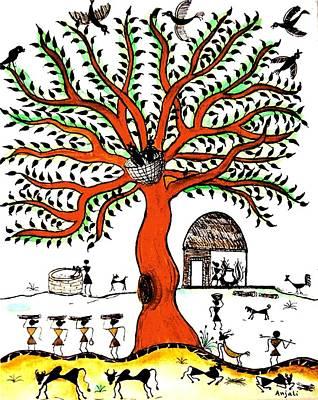 Good Morning Chirp Poster by Anjali Vaidya