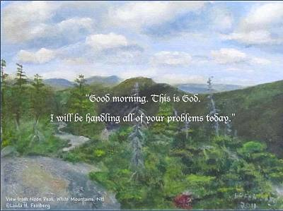 Poster featuring the painting Good Morning by Linda Feinberg