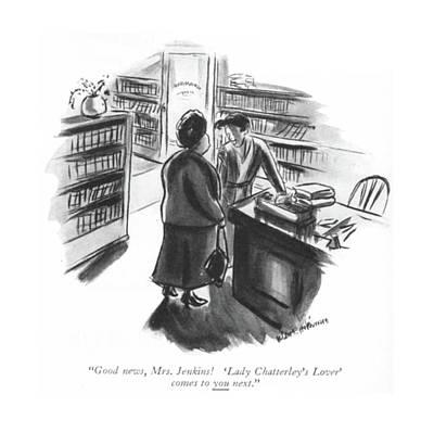 Good News, Mrs. Jenkins! 'lady Chatterley's Poster by Helen E. Hokinson