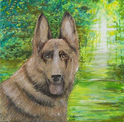 Poster featuring the painting Good Old Shep by Cathy Long