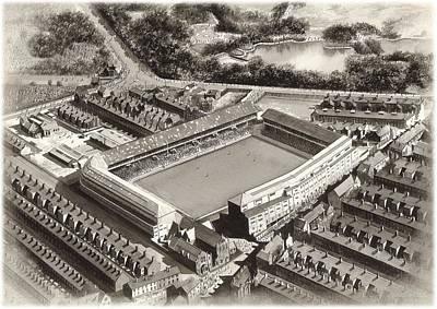 Goodison Park 1955 - Everton Poster