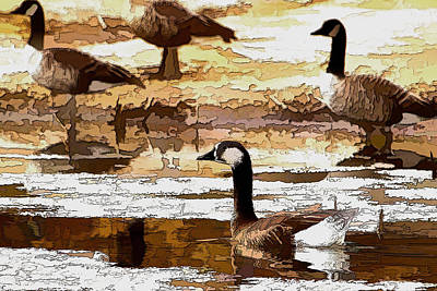 Goose Abstract Poster