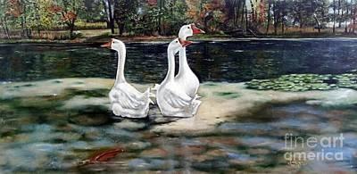 Goose Landscape Poster