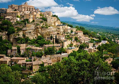 Gordes Hill Town In Provence Poster by Inge Johnsson